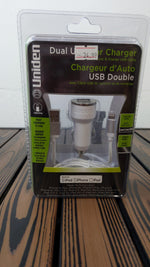 Uniden USB Dual Car Charger Lightning
