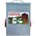 Load image into Gallery viewer, 25LB Outdoor Rainproof Galvanized Chicken Feeder 20 Liter Capacity