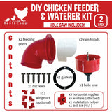 DIY Port Feeder + Waterer Kit with Hole Saw + 5 Pack of Horizontal Nipples