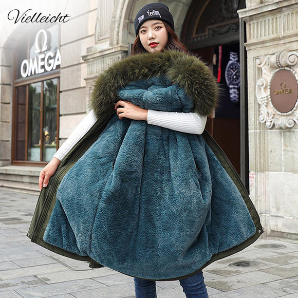 New Cotton Thicken Warm Winter Jacket Coat Women Casual Parka Winter Clothes Fur Lining Hooded Parka Mujer Coats|Parkas