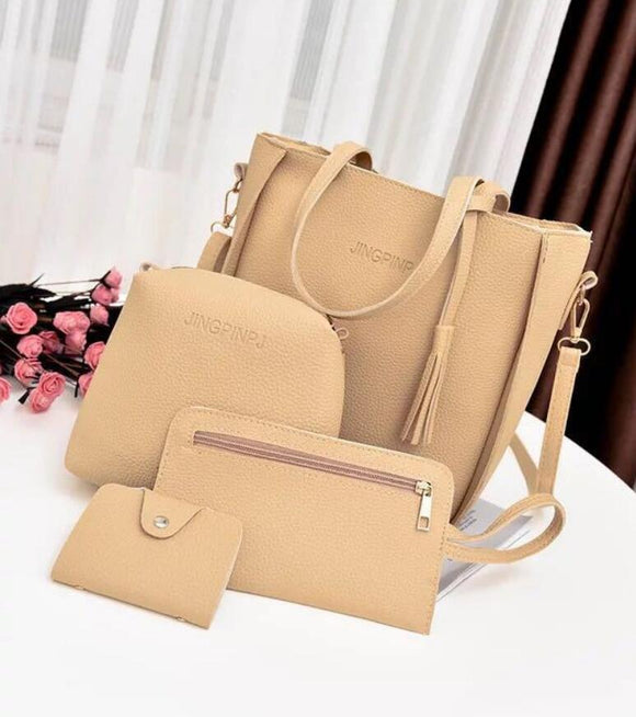 Women Bag Set Top-Handle Big Capacity Female Tassel Handbag Fashion Shoulder Bag Ladies PU Leather Crossbody Bag bolsas feminin - goldylify.com