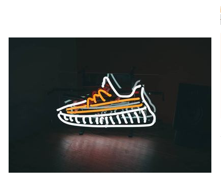 Sneakers neon lights led shoe lights tide brand style decorative lights clothing shop furnishings