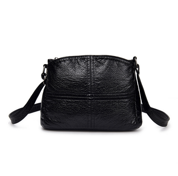 Fashion women's handbag soft leather casual shoulder messenger small bag female handbag black lvhryuu7 - goldylify.com