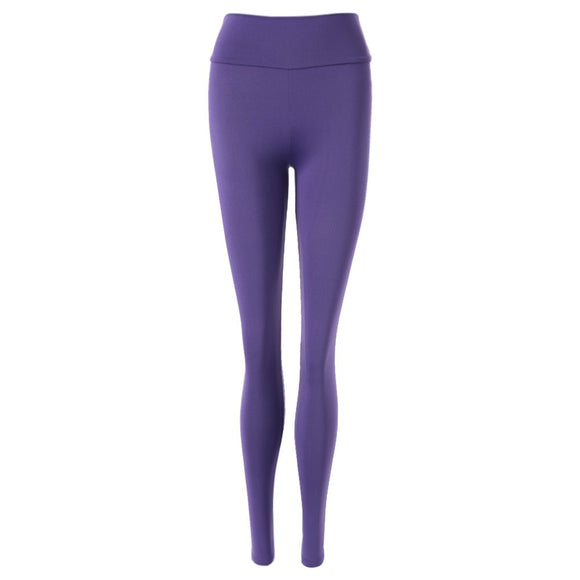 Active Elastic Waist Solid Color Skinny Women's Pants - goldylify.com