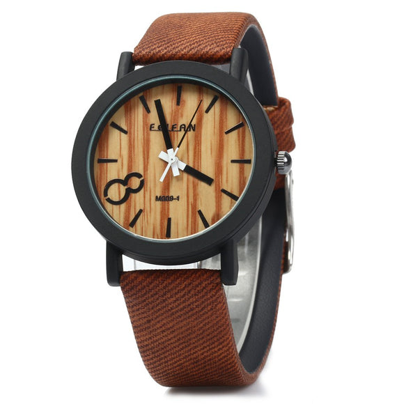 FEIFAN Big Number 8 Quartz Wrist Watch with Leather Strap for Men - goldylify.com