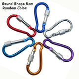 6Pcs Carabine Outdoor Kit Aluminum Alloy Survival Gear Camp Mountaineering Hook EDC Mosqueton Carabiner Camping Equipment GYH - goldylify.com