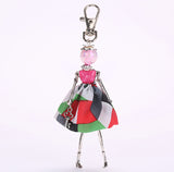 YLWHJJ brand 2017 New Fashion Cute Doll bag Keychain Jewelry Women Dress Resin bead Girl Key Chain Princes Alloy hot Car Pendant - goldylify.com