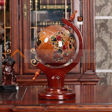 President's solid wood globe office floor decoration celebration living room study decoration opening gift - goldylify.com