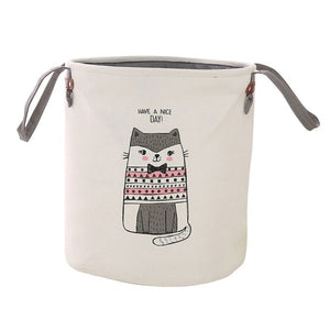 Storage Laundry Baskets Cloth Dirty Clothes Bucket Children Toy Storage Bucket Bow Tie Cat Elephant Dirty Clothes Storage Baske - goldylify.com