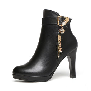 Womens Autumn  Leather Boots - goldylify.com