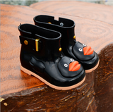 Children's rain boots Korean version of non-slip water shoes Fashion short tube pvc boots children's shoes autumn and winter new children's boots - goldylify.com