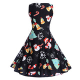 Christmas Print Slim Dress