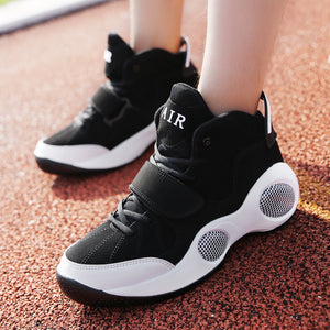 Trend casual large size thick bottom increased basketball shoes shockproof wear sports boots - goldylify.com