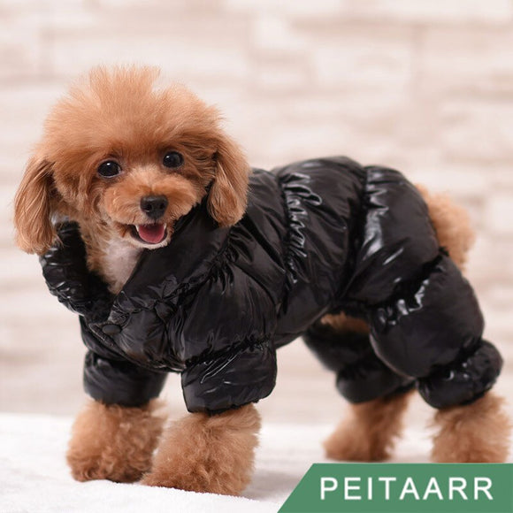 Pet Clothes Winter Thickened Warmth Coat Windproof Puppy Small Medium Large Dogs Cats Outfit Jumpsuit Four Legged|Dog Down & Parkas