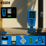 BSIDE CCT01 Coating Thickness Gauge LCD Display with Single / Continuous Measure Mode