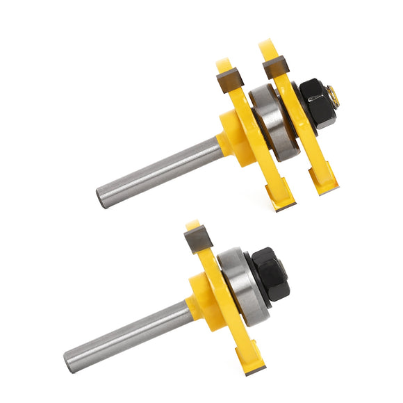 T Type Alloy Woodworking Milling Cutter Three-teeth Tool - goldylify.com