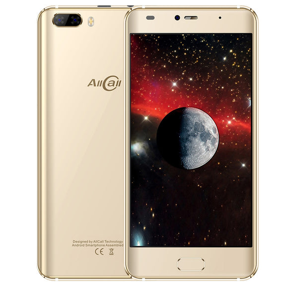 Allcall Rio 3G Smartphone 5.0 inch Android 7.0 MTK6580A Quad Core 1.3GHz 1GB RAM 16GB ROM GPS 3D Curved Glass Screen with Dual Rear Cameras - goldylify.com
