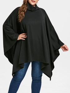 Plus Size Long Sleeve Asymmetric Top