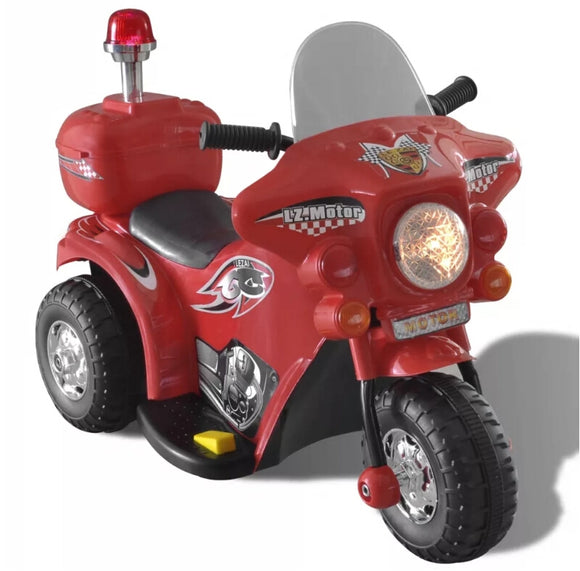 vidaXL Kid Electric Motorcycle Red 80087 - goldylify.com