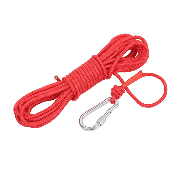 Multipurpose Magnet Fishing Rescue Safety Rope Rock Climbing Cord with Carabiner - goldylify.com