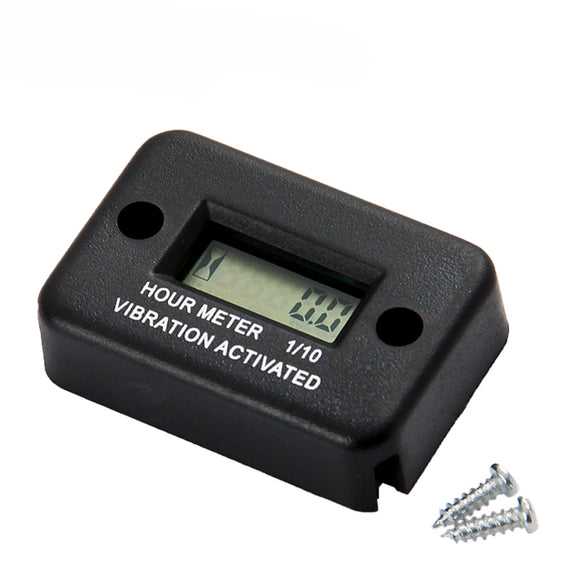 Motorcycle New Tach Vibration Activated Hour Meter Waterproof Counter For Motorcycle ATV Snowmobile Boat Gasoline Engine