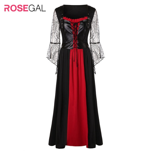 ROSEGAL Plus Size Lace Up Maxi Dress