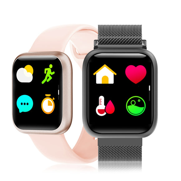 F11 Full-screen Touch Smart Watch with Exercise Heart Rate Detection Mode Milanese Function Magnetic Metal Strap - goldylify.com