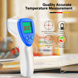 Non-contact Infrared Thermometer 0.5s Fast Reading 0.2℃ Accuracy LED HD Display Fever Alarm (SKY BLUE)