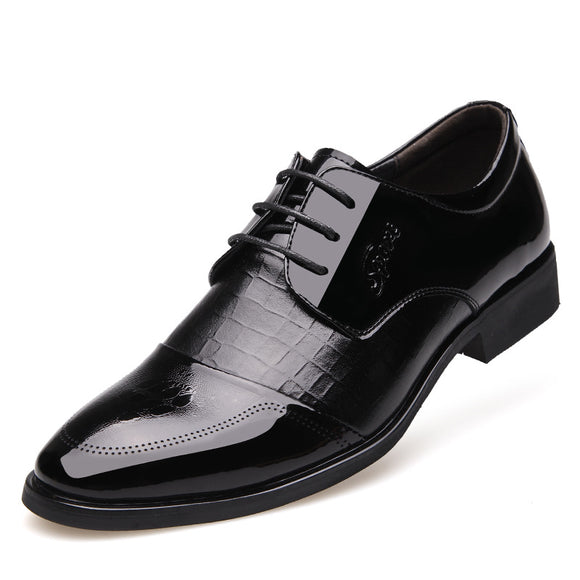 2020 spring new men's shoes business dress men's leather shoes single shoes with pointed shoes - goldylify.com