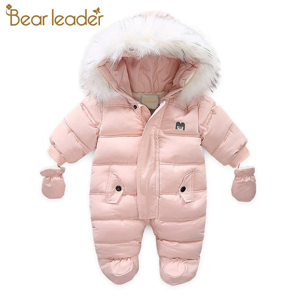 Bear Leader Baby Girls Clothes Newborn Winter Thick Rompers Infant Long Sleeve Costume Coat 18M|Rompers