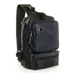 A Mo Tis Leather Backpack Bag trend of Korean men's casual outdoor sport for men chest Bag Satchel - goldylify.com