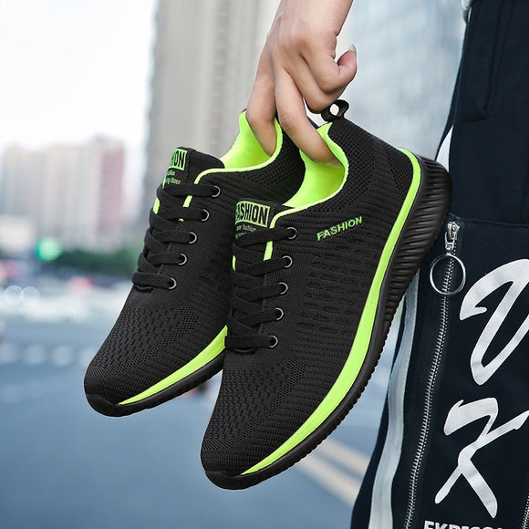 Men's Sneakers Knitted Light Sports Shoes Woman Fashion Couple Casual Running Shoes|Running Shoes