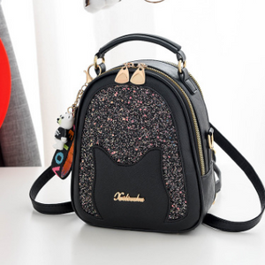 Shoulder bag sequin shoulder bag multi-function sequin shoulder bag multi-pocket multi-function sequin shoulder bag - goldylify.com