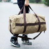 Large capacity sports leisure bag travel bag men's short trip LUGGAGE BAG canvas bag boarding bag - goldylify.com