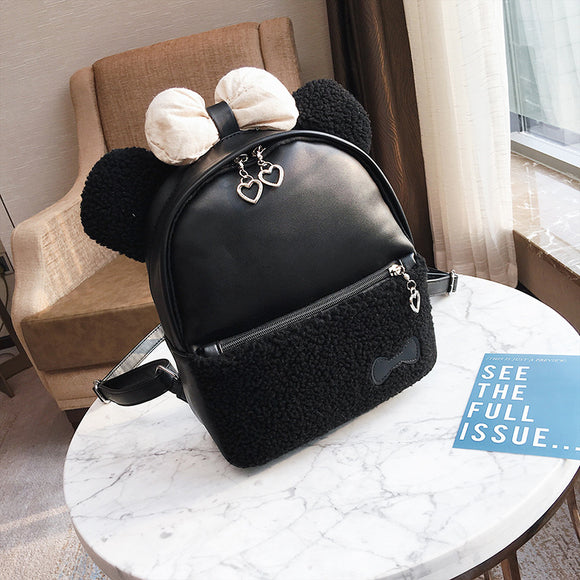 Children's cartoon Tamiflu bear backpack female 2020 autumn and winter new campus wind bag, fashionable travel bag, tide Backpack - goldylify.com
