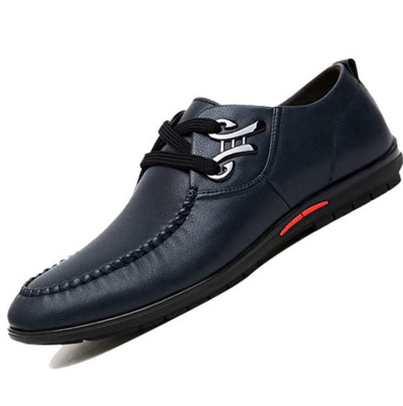 Fashion leisure shoes breathable hollow punch lace business men's shoes - goldylify.com