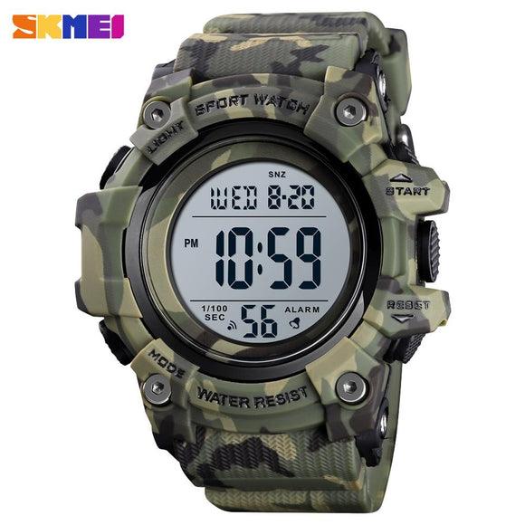 Mode Männer Sport Uhr Luxus SKMEI Uhren Stoppuhr Countdown Digitale Uhr 50Bar Wasserdicht Military Watch