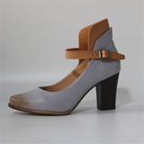 Large size thick with high heel sandals - goldylify.com