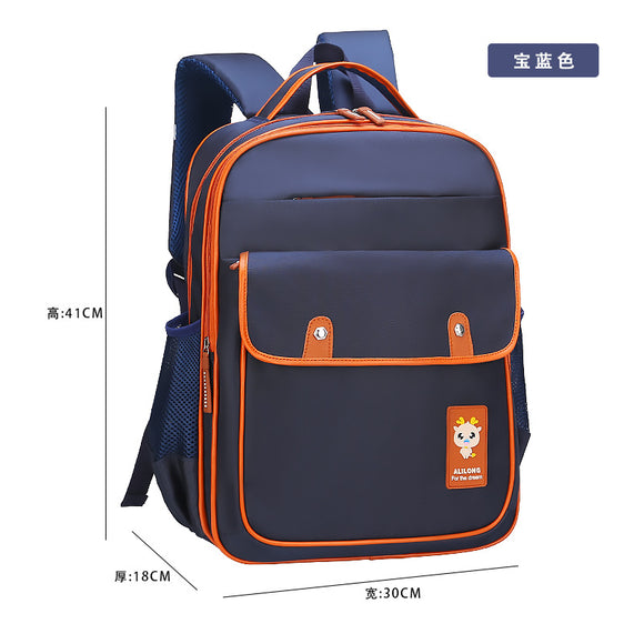 Schoolbag primary school pupils 6-12 years old to customize LOGO class 2-4-6 grade for children's shoulder bag - goldylify.com