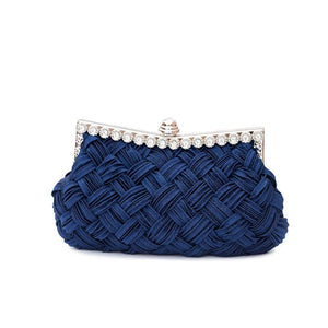 Wedding bag bridesmaid bag woven rhinestone party bag - goldylify.com