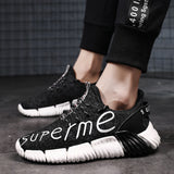 Flying woven breathable sneakers men
