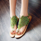 Vintage Summer Style Women Shoes Women's Sandals Platform Wedge High Heels Rhinestones Beach Rome Sandals Slipper - goldylify.com