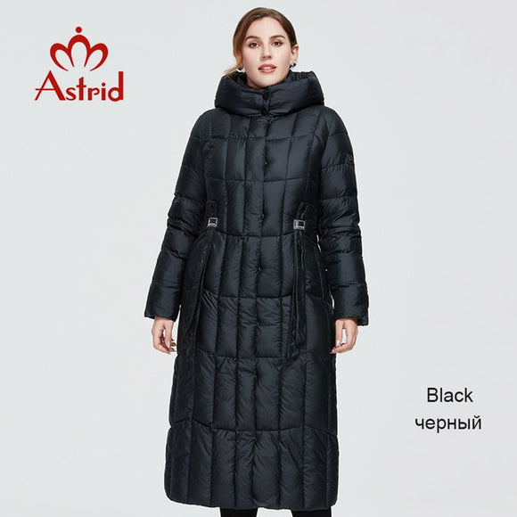 Astrid 2020 New Winter Women's coat women long warm parka Plaid fashion thick Jacket hooded large sizes female clothing 9546