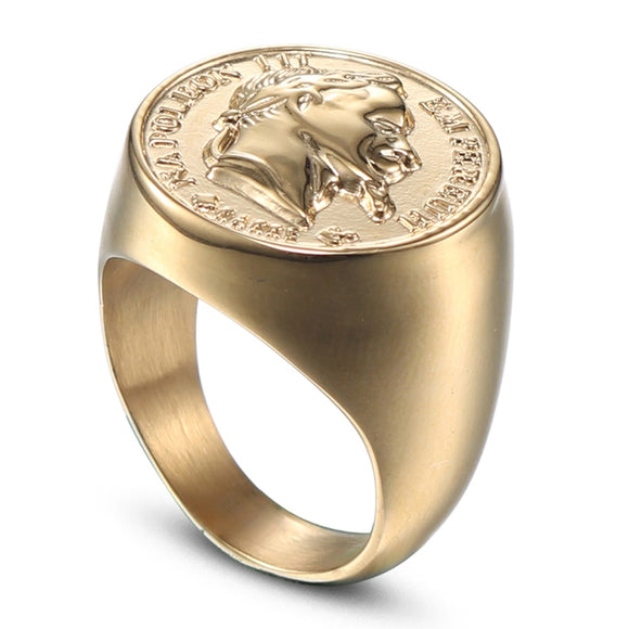 CXQNEWA stainless steel big size men punk signet ring jewelry high quality figure statue ring fashion male ring anel masculino - goldylify.com