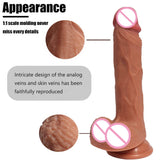 7.87*1.57 lifelike skin Dildo penis realistic dick double layer medical silicone sex toys for women