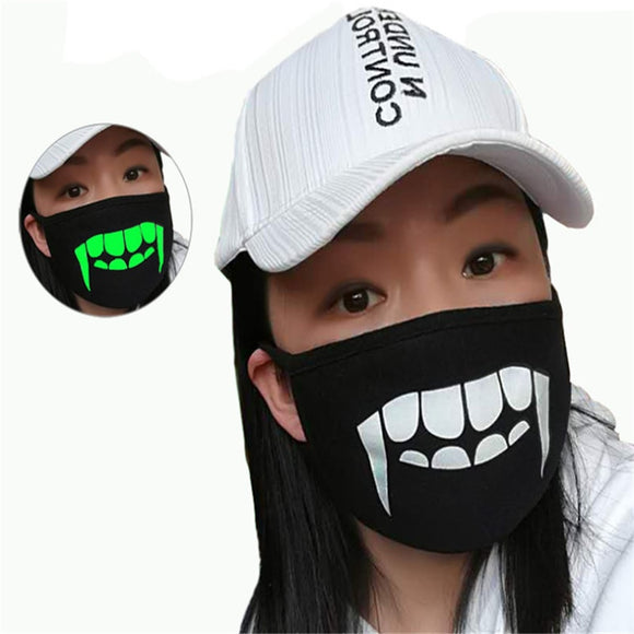 Hot Cute Cartoon Printing Masks Combed Cotton Mouth Mask Breathable Warm Glow In The Dark Anti-Dust Mask Mouth Cover For Outdoor - goldylify.com