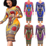 D8020 2019 Summer Women Long Maxi Dress Ladies Spaghetti Strap Printed Bodycon Sexy Maxi African Kitenge Dress Designs