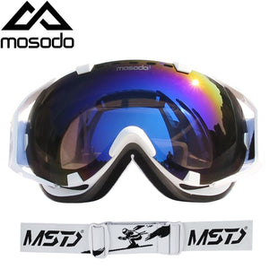 Mosodo Men Women Ski Goggles Snowboard Snowmobile Anti-fog Skiing Polarized Eyewear Snow Large Spherical Ski Glasses - goldylify.com