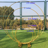 Ring Iron Wedding Arch Props Background Circle Arch Flower Outdoor Lawn Wedding Flower Door Road Leading Birthday Party Decor - goldylify.com