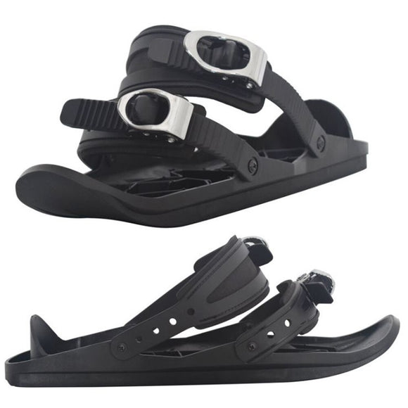 SzBlaZe Mini Ski Skates for Snow Short Skiboard Snowblades Outdoor Skiing Adjustable One Size Fits All Winter Sports Equipment - goldylify.com